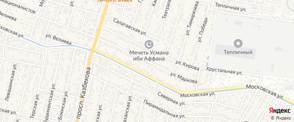 Улица Маркова на карте поселка Семендера с номерами домов