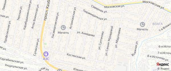 Улица Татурбиева на карте поселка Семендера с номерами домов