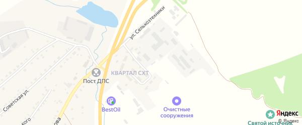 Улица СХТ на карте села Шихазаны с номерами домов
