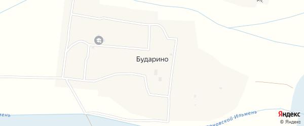 Октябрьская улица на карте села Бударино с номерами домов