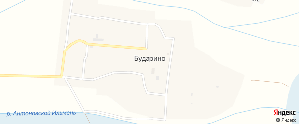Степная улица на карте села Бударино с номерами домов