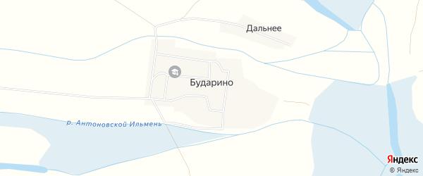Карта села Бударино в Астраханской области с улицами и номерами домов