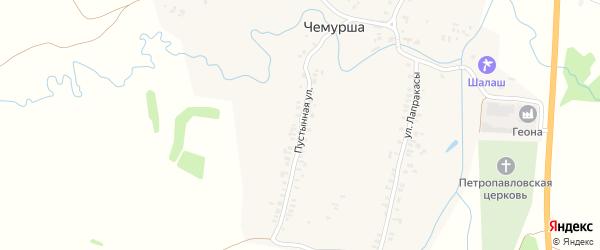Пустынная улица на карте села Чемурши с номерами домов