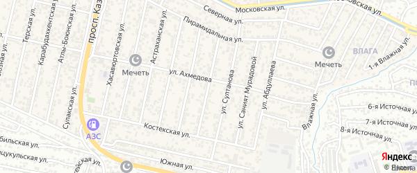 Хазарская улица на карте поселка Семендера с номерами домов
