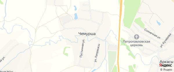 Карта села Чемурши в Чувашии с улицами и номерами домов