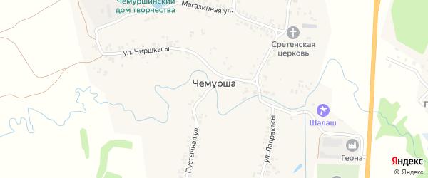 Молодежная улица на карте села Чемурши с номерами домов
