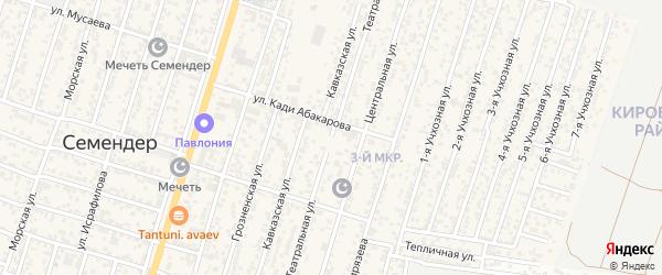 Театральная улица на карте поселка Семендера с номерами домов