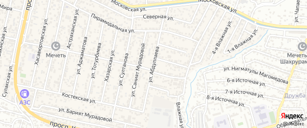 Улица Абдуллаева на карте поселка Семендера с номерами домов