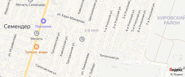 Улица Темирязева на карте поселка Семендера с номерами домов