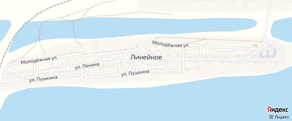 Улица Пушкина на карте Линейного села с номерами домов