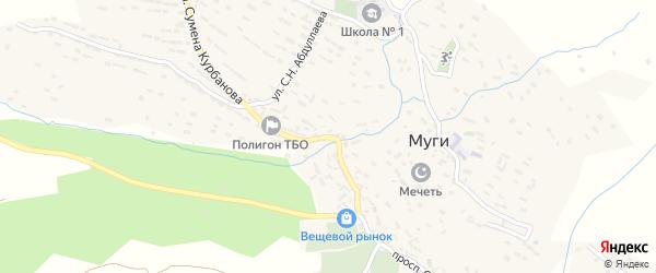 Улица С.К.Курбанова на карте села Муги с номерами домов