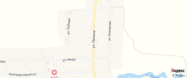 Улица Ленина на карте деревни Новое Урюмово с номерами домов