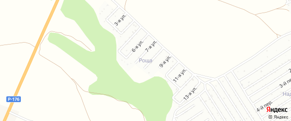 Территория сдт Роща на карте Чебоксар с номерами домов