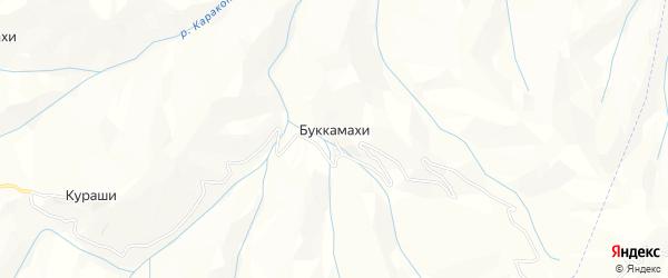 Карта хутора Буккамахи в Дагестане с улицами и номерами домов