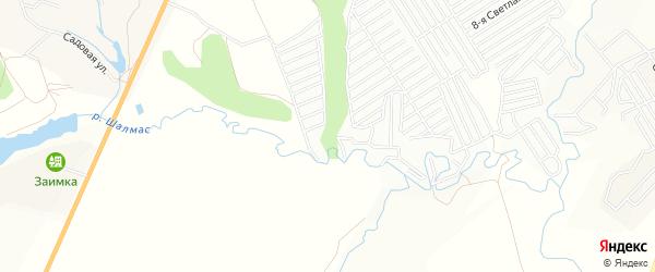 СТ Радуга-1 на карте Атлашевского сельского поселения с номерами домов