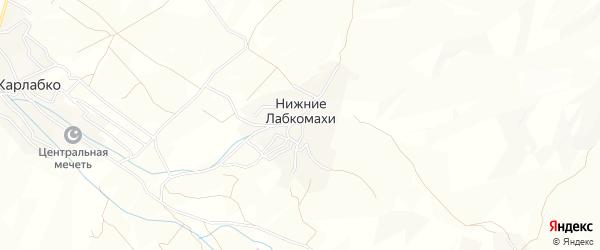 Карта села Нижнего Лабкомахи в Дагестане с улицами и номерами домов