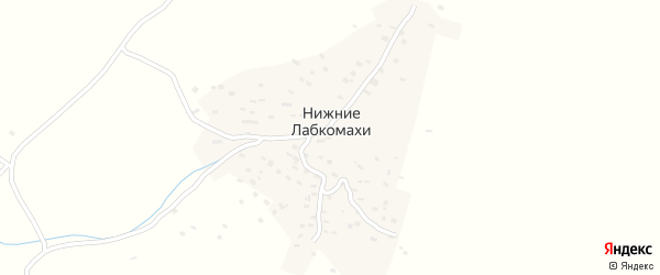 Учительская улица на карте села Нижнего Лабкомахи с номерами домов