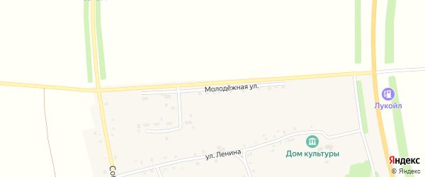 Молодежная улица на карте деревни Кошноруй с номерами домов