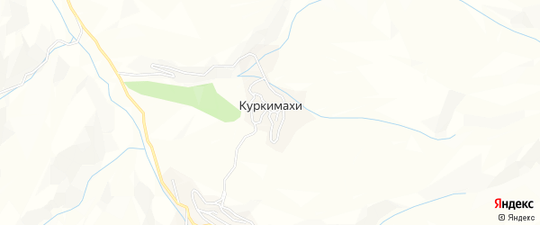 Карта села Куркимахи в Дагестане с улицами и номерами домов