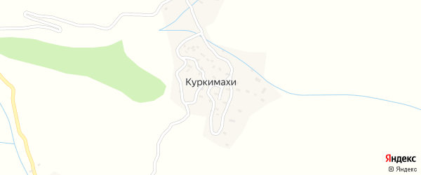 Горная улица на карте села Куркимахи с номерами домов