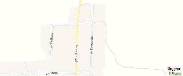 Улица Комарова на карте деревни Новое Урюмово с номерами домов