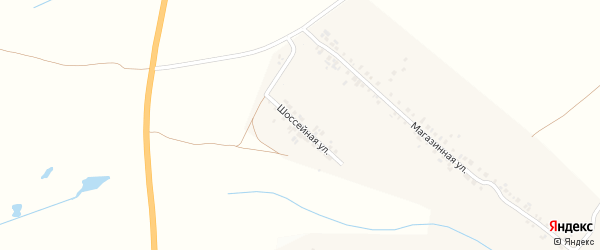 Шоссейная улица на карте деревни Яндово с номерами домов