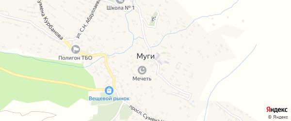Улица М.Гамзатова на карте села Муги с номерами домов