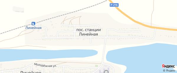 Заречная улица на карте поселка Линейной с номерами домов