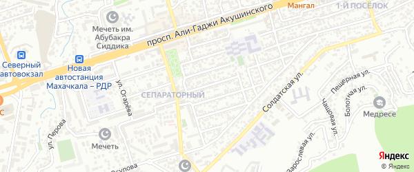 Магистральная 9-я улица на карте Махачкалы с номерами домов
