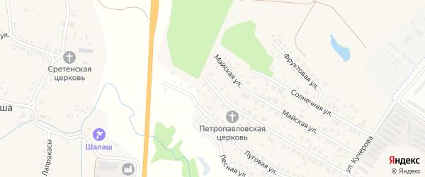 Полевая улица на карте деревни Аркасы с номерами домов