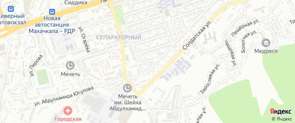 Магистральная 12-я улица на карте Махачкалы с номерами домов