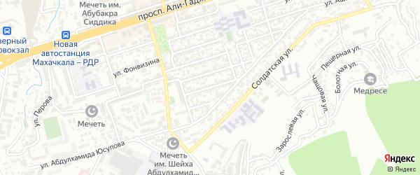Магистральная 11-я улица на карте Махачкалы с номерами домов
