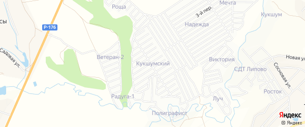 СТ Кукшумский на карте Атлашевского сельского поселения с номерами домов