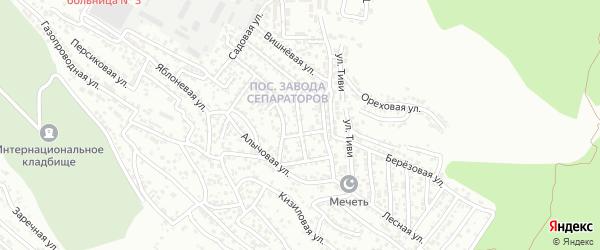 Грушовая улица на карте Махачкалы с номерами домов
