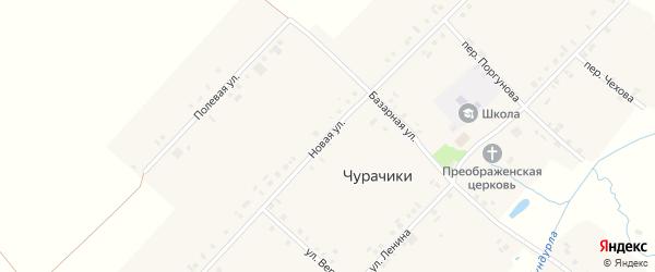 Новая улица на карте села Чурачики с номерами домов