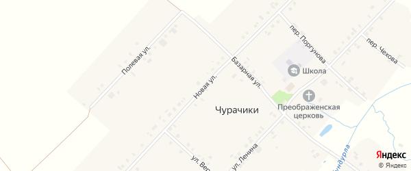 Новая улица на карте села Токаево с номерами домов