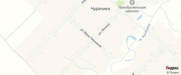Улица В.Черновой на карте села Чурачики с номерами домов