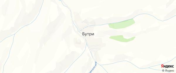 Карта села Бутри в Дагестане с улицами и номерами домов