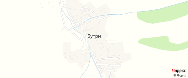 Улица Хабренахнала на карте села Бутри с номерами домов