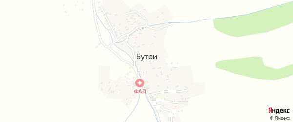 Улица Туркум на карте села Бутри с номерами домов