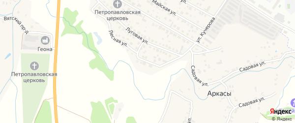 Лесная улица на карте деревни Аркасы с номерами домов