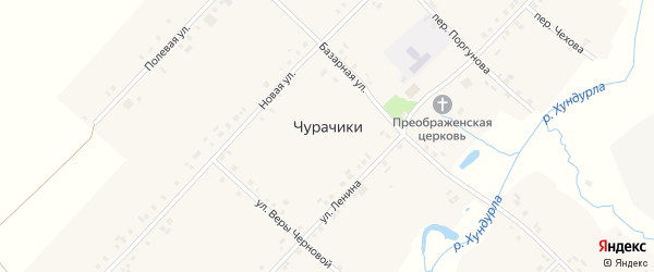Переулок Поргунова на карте села Чурачики с номерами домов