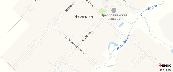 Улица Ленина на карте села Чурачики с номерами домов