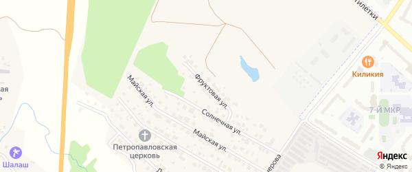 Фруктовая улица на карте деревни Аркасы с номерами домов
