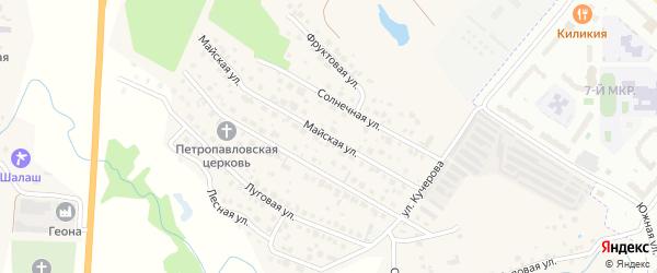Майская улица на карте деревни Аркасы с номерами домов