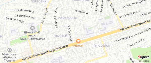Магистральная 4-я улица на карте Махачкалы с номерами домов