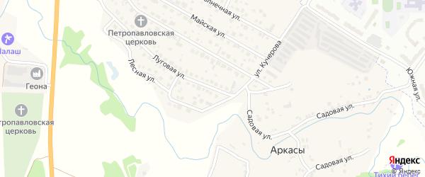 Луговая улица на карте деревни Аркасы с номерами домов