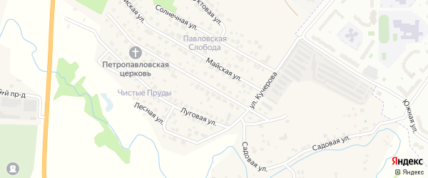 Улица Кучерова на карте деревни Аркасы с номерами домов