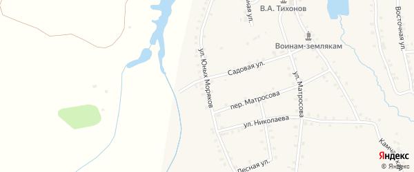 Улица Юных моряков на карте деревни Асхвы с номерами домов