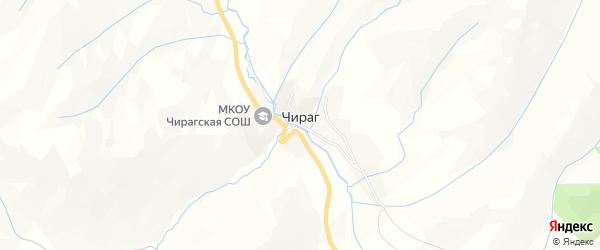 Карта села Чирага в Дагестане с улицами и номерами домов